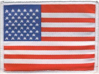 USA Flagga Broderat Tygmärke - 28064 - USA Flagga Broderat Tygmärke - 28064