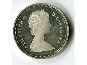 1981 CANADA LOCOMOTIVE SILVER ONE DOLLAR