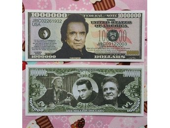 Johnny Cash Dollar sedel Rockabilly/50´s/jänke/dollarsedel/raggare/country