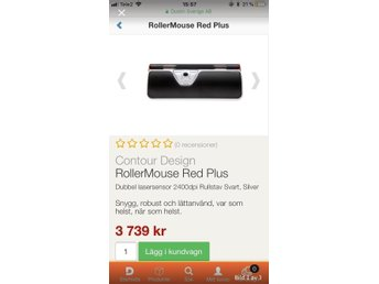 Helt ny Contour rollermouse red plus!