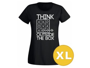 T-shirt Think Outside The Box Svart Dam tshirt XL