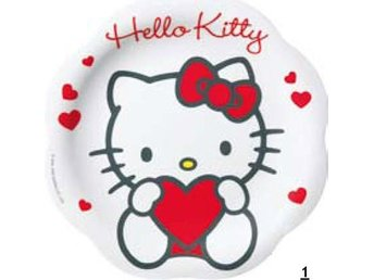 HELLO KITTY - FLAT TALLRIK