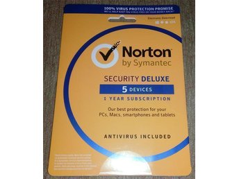 Norton Security 3.0 2016 - 5 PC / Android / Mac,1 Års Licens