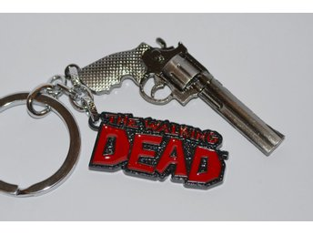 Revolver + Logo The Walking Dead Nyckelring Metall Ny