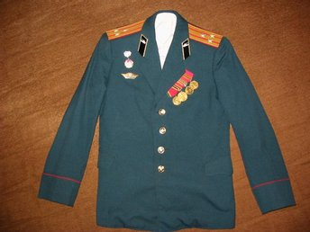 The uniform of the colonel of the tank forces of the USSR.