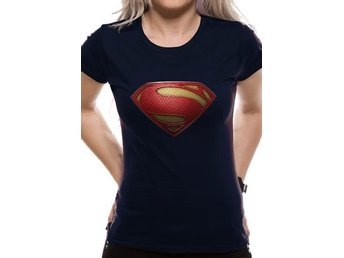 SUPERMAN MAN OF STEEL - TEXTURED LOGO (FITTED) - 2Extra Large