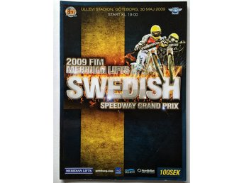 2009 Speedway Grand Prix program FIM Meridian Lifts Nicki Pedersen Leigh Adams