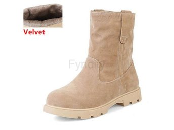 Dam Boots Calf Boots For Women Footwears beige velvet 37