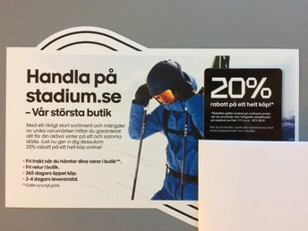 20% rabattkod stadium.se (339911853) ᐈ Köp på Tradera e24af95b8e51a