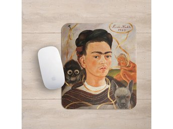 Frida Kahlo Self Portrait With Small Monkey Musmatta