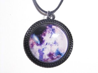 Utrymme och planeter halsband / Space and planets necklace