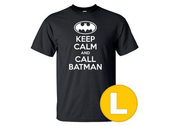T-shirt Keep Calm Call Batman Svart herr tshirt L