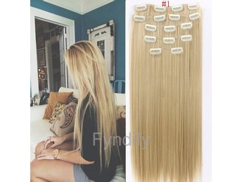 60cm Hair Extensions #1 Clip In Hair Extentions