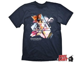 Horizon Zero Dawn Painted Aloy Navy T-Shirt (Large)