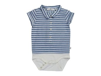 Fridolf body shirt - Navy stripes - 68 (Rek pris: 349kr)