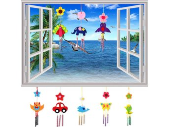 1 st DIY Wind Chime Kids Handbok Aeolian Bells Educational Puzzle Toy Craft Kit