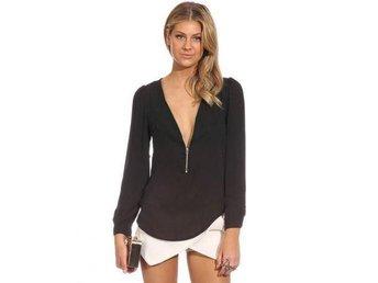 blouse, skjorta, tunnika, top, tröja med dragkedja stilren klassisk ombloggad - Trollhättan - blouse, skjorta, tunnika, top, tröja med dragkedja stilren klassisk ombloggad - Trollhättan