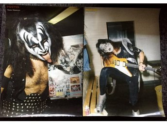 KISS TIDNINGEN POSTER 83 X 60 cm affisch  Ace Frehley Gene Simmons