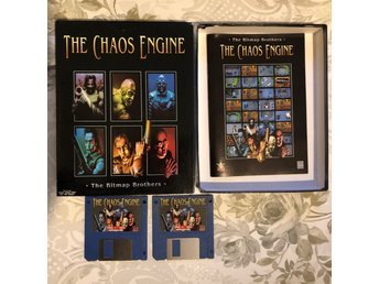 The Chaos Engine AMIGA 500 500+ 600 1200 box manual ej fungerande disketter