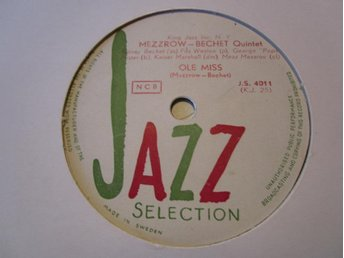 Jazz Selection  4011  Mezzrow - Bechet quintet
