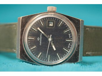 Continental Date W3 - Fräsig 70-talare i gott skick - Hyfsad stort ur (35x42mm) - Gislaved - Continental Date W3 - Fräsig 70-talare i gott skick - Hyfsad stort ur (35x42mm) - Gislaved