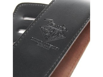 Guitar Strap Black Leather Fender for Gibson Epiphone Gitarr Blues Jazz Pop Rock