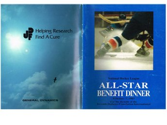 National Hockey League ALL-STAR BENEFIT DINNER Feb 7, 1983
