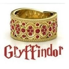 NYTT Harry Potter Skolring Gryffindor ring