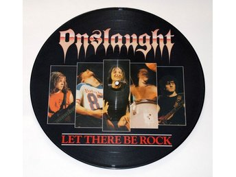 ONSLAUGHT 'Let There Be Rock' 1987 UK picture-disc 12""