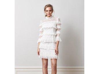Carmine mini dress, by malina, klänning, vit