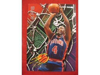 JOE DUMARS - FLEER 1994-95 SHARP SHOOTER  - BASKET