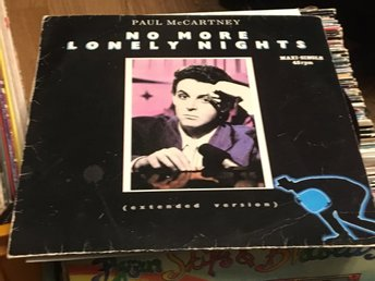 PAUL McCARTNEY NO MORE LONELY NIGHTS MAXI-SINGLE 1984 SKICK VG