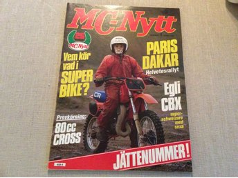 MC-NYTT Nr 4 1983 80 cc Cross test,Ulf Karlsson Trail.Enduro SM,Triumph
