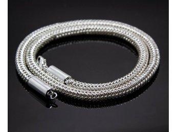 kejsarlänk silver halsband