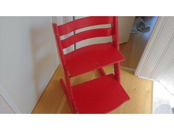 STOKKE TRIPP TRAPP barnstol röd nyare modell 2007