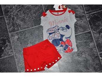 nytt 6 år=116 set tröja o shorts Minnie Mouse Disney FRI FRAKT