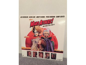 MARS ATTACKS US LASERDISC widescreen Tim Burton