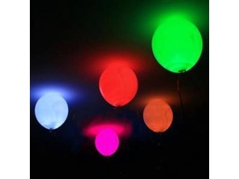 5-pack blinkande LED-ballonger  PARTY!! FEST !! BARNKALAS!!
