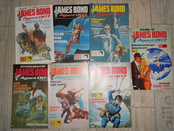 7 st JAMES BOND AGENT 007 NR 2,3,4,5,6,7,8 1982