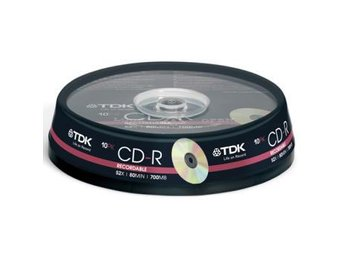 TDK CD-R 52x 80min 10-p cakebox