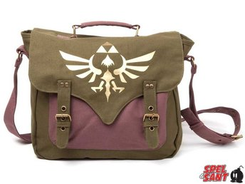 Nintendo Zelda Golden Triforce Messenger Bag Canvas Grön