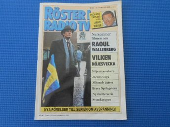 Röster i Radio TV NR 41 1985 Raoul Wallenberg Jacob Dahlin
