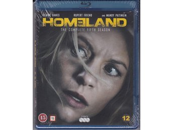 HOMELAND-HELA SÄSONG 5-INPLASTAD BLURAY-BOX( 3 DISC ).