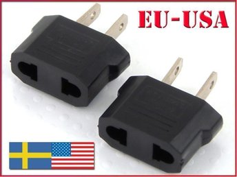 REA - Stickkontakt - adapter till USA Amerika Asien Japan
