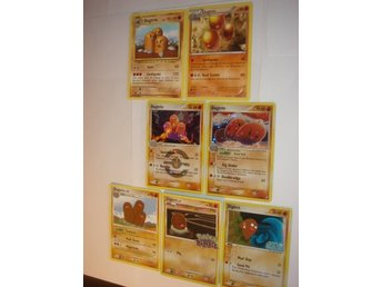 DUGTRIO DIGLETT  7 st NYA  RARE  HOLO  RUMBLE  ÄLDRE mm.