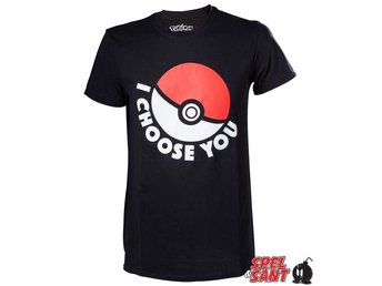 Pokemon I Choose You T-Shirt Svart (X-Large)