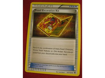 FOSSIL EXCAVATION KIT - NYTT POKEMON TRAINER - FATES COLLIDE 101/124