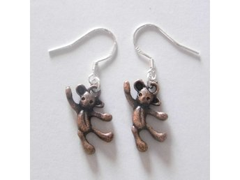 Nallebjörn örhängen / Teddy bear earrings