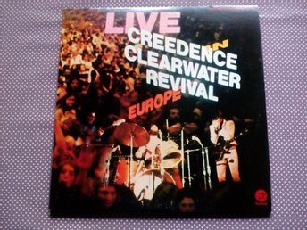 CREEDENCE CLEARWATER REVIVAL LIVE EUROPA 2+LP Fantasy SEPTEMBER concert EUROPE