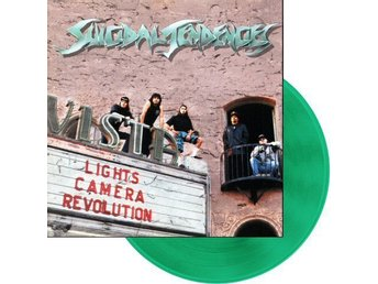 Suicidal Tendencies ‎–Lights Camera Revolution lp Green viny